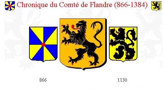 blason du comté de Flandre entre 866 et 1384